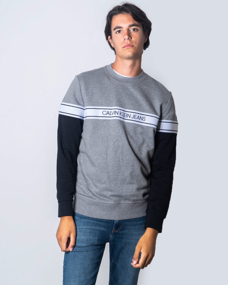 Calvin Klein Jeans Felpa senza cappuccio Logo Tape Crew Neck J30J315710 - 1