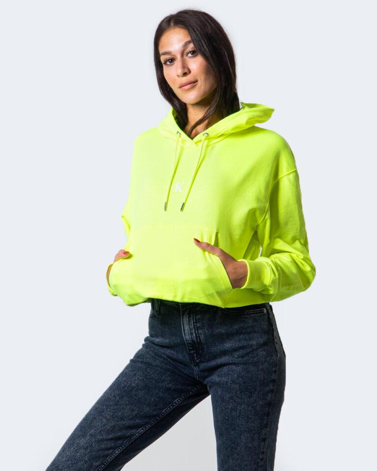 Calvin Klein Jeans Felpa con cappuccio PUFF PRINT CROPPED HOODIE J20J214218 - 1