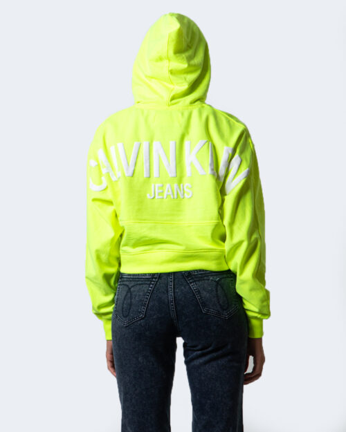 Calvin Klein Jeans Felpa con cappuccio PUFF PRINT CROPPED HOODIE J20J214218 - 3