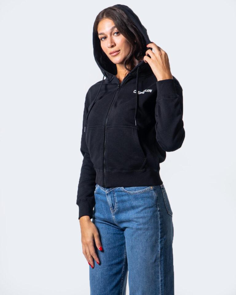 Calvin Klein Jeans Felpa con cappuccio INSTIT BACK LOGO ZIP THROUGH J20J214204 - 1