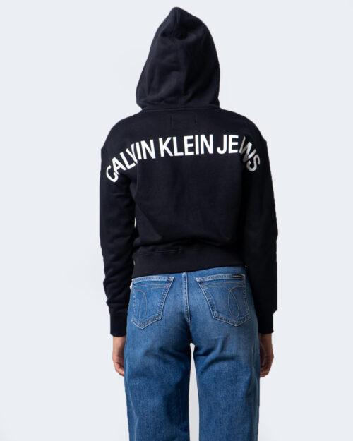Calvin Klein Jeans Felpa con cappuccio INSTIT BACK LOGO ZIP THROUGH J20J214204 - 3