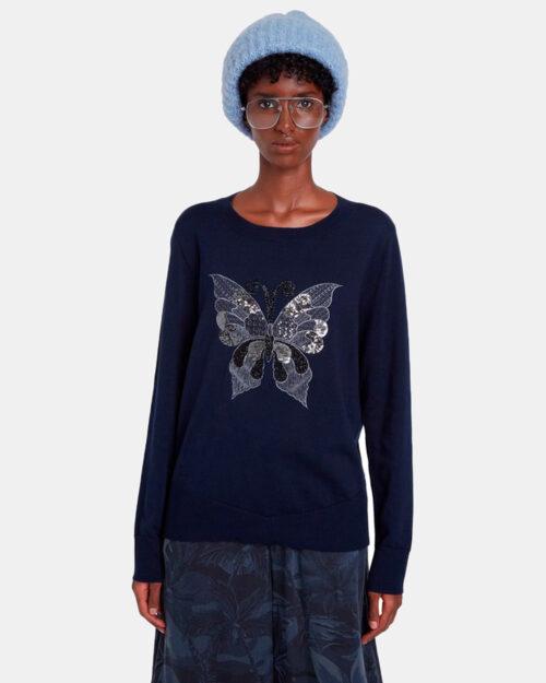Desigual Maglione Jers butterfly 20WWJF91 - 1