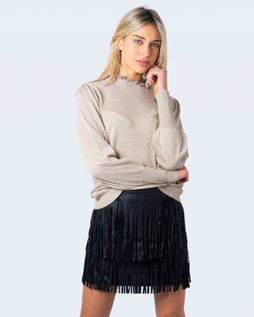 Vila Clothes Maglione Hermine Knit Highneck L/S Top/Su 14059994 - 1
