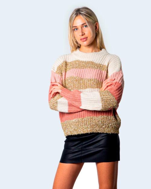 Vila Clothes Maglione Tianli Knit Glitter O-Neck L/S Top 14060308 - 1