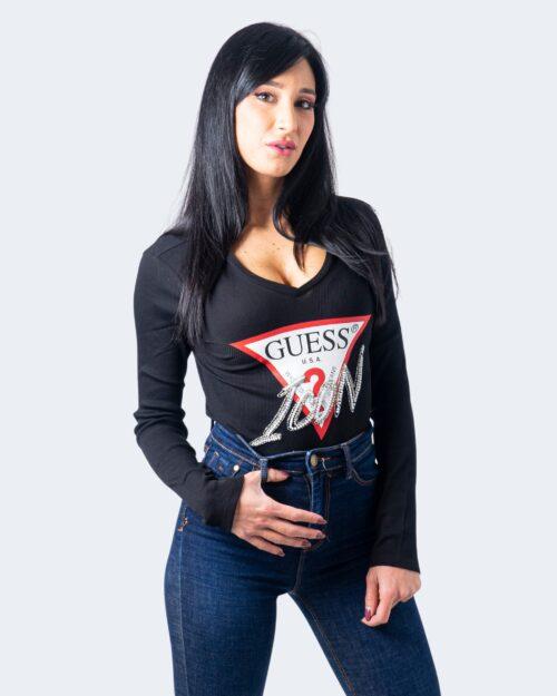 Guess T-shirt manica lunga LS VN Icon Tee W0BI04K1810 - 1