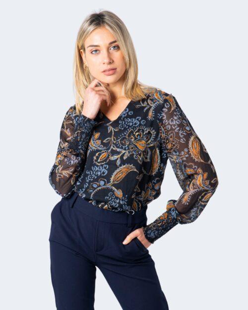 Only T-shirt manica lunga Nana L/S V-Neck Top Wvn 15214996 - 1