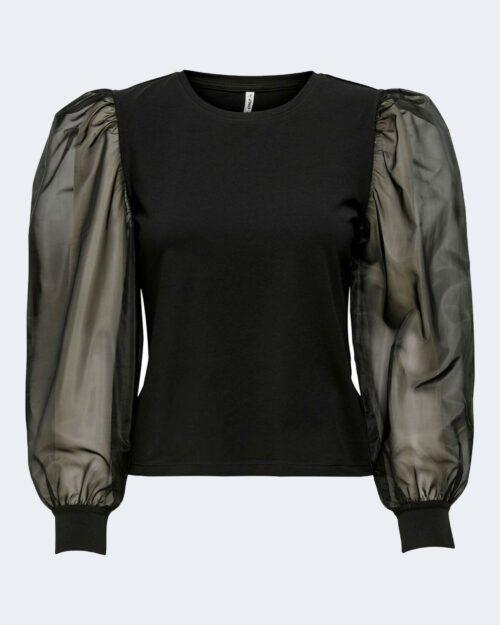 Only T-shirt manica lunga Nara Life L/S organza o-neck Top Jrs 15214210 - 1