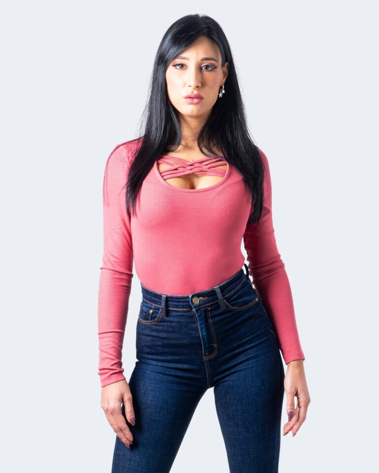 Only T-shirt manica lunga Mary L/S Detail Top Jrs 15230902 - 1