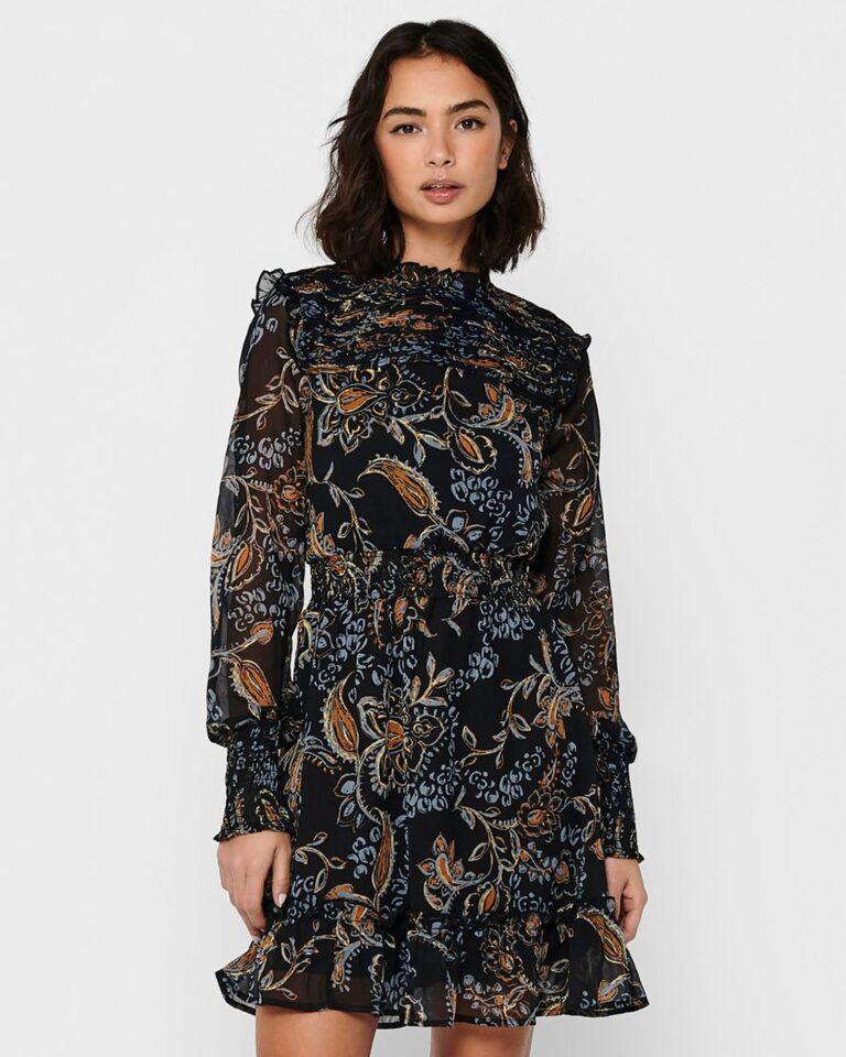 Only Vestito corto Nana L/S Smock Dress Wvn 15216116 - 1