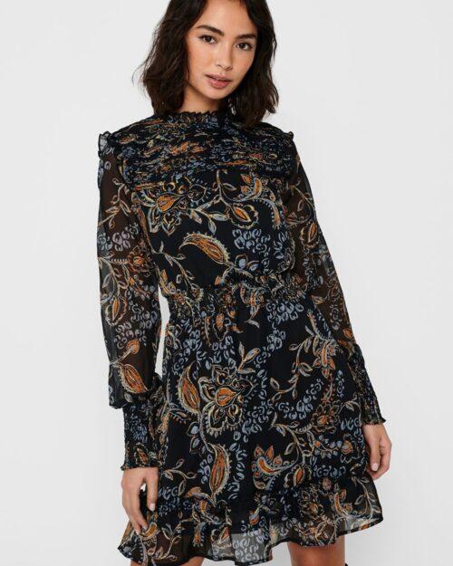 Only Vestito corto Nana L/S Smock Dress Wvn 15216116 - 3