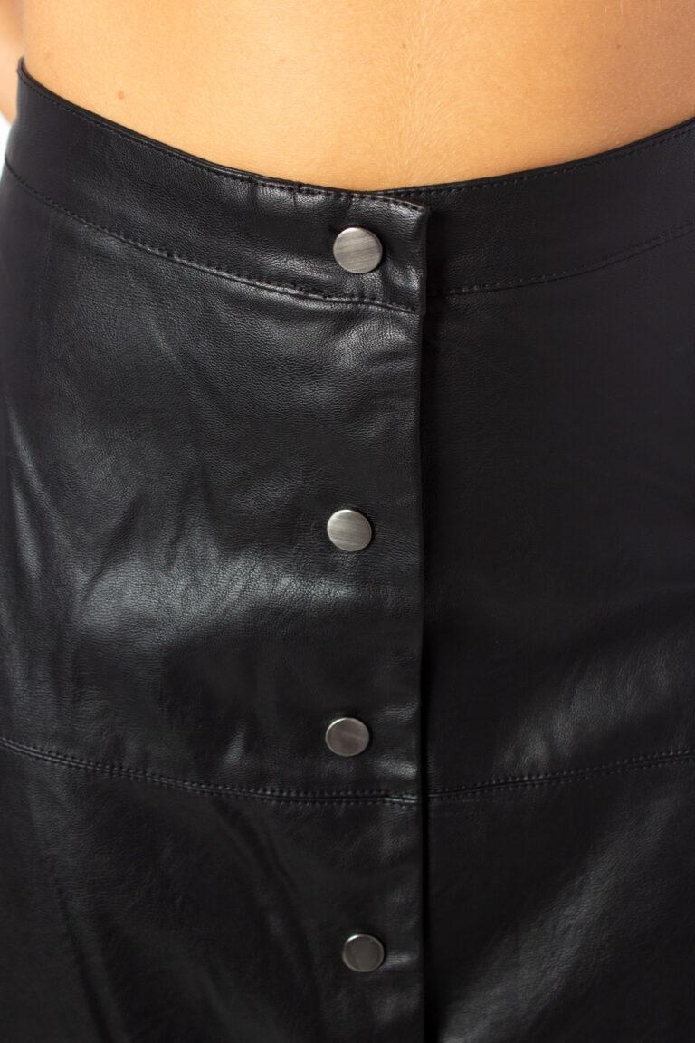 Only Longuette Jane Faux Leather Midi Skirt Otw 15189536 - 3