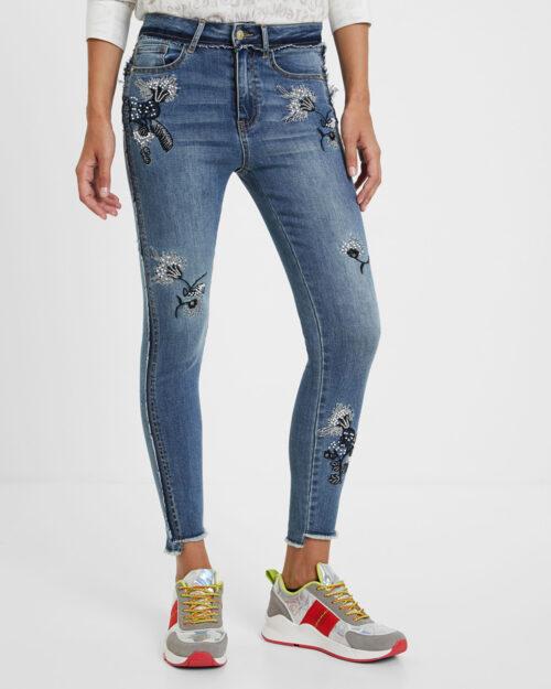 Desigual Jeans Denim miami flowers 20WWDD57 - 1