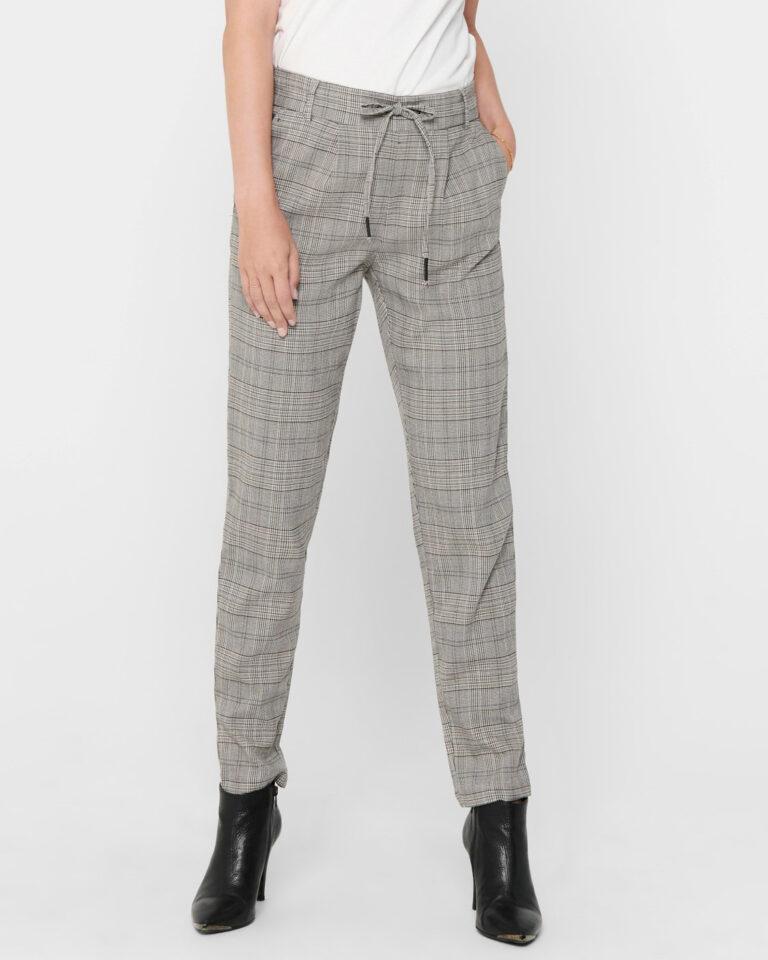 Only Pantaloni Poptrash Easy Think Check Noos 15182364 - 1