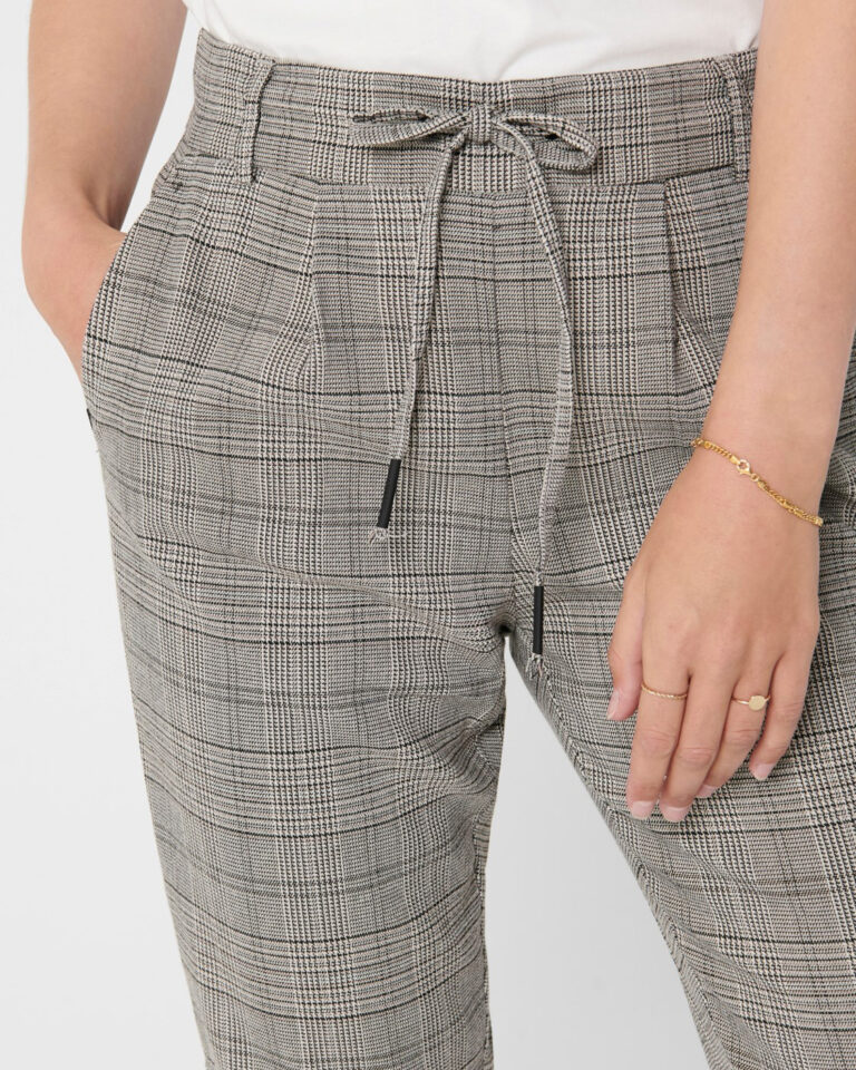 Only Pantaloni Poptrash Easy Think Check Noos 15182364 - 3