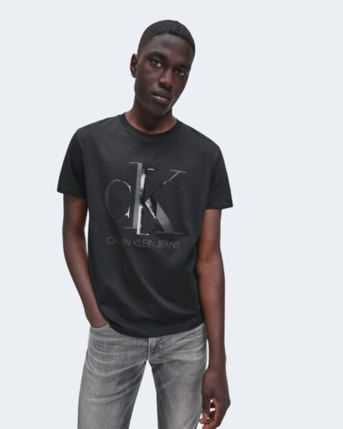 Calvin Klein Jeans T-shirt SHINY MONOGRAM SLIM S/S TEE J30J316485 - 1