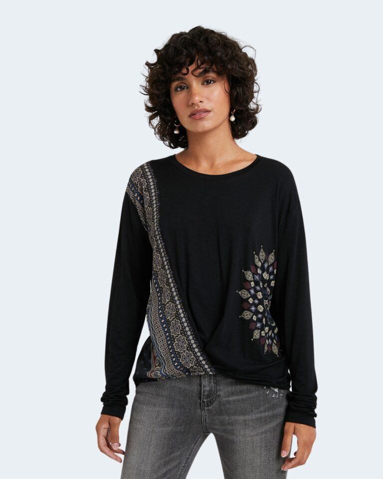 Desigual T-shirt manica lunga TS Maresella Black 20WWTKA0 - 1