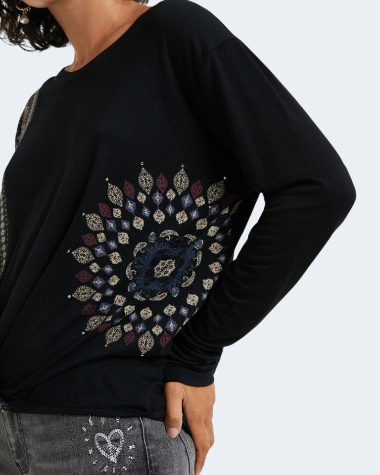 Desigual T-shirt manica lunga TS Maresella Black 20WWTKA0 - 2