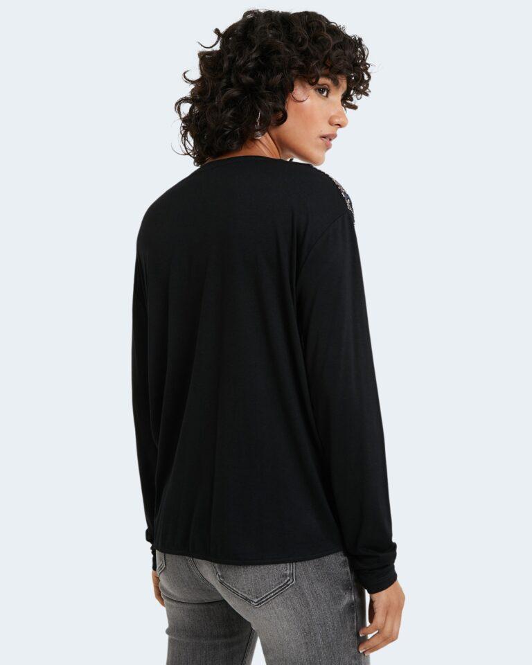 Desigual T-shirt manica lunga TS Maresella Black 20WWTKA0 - 3