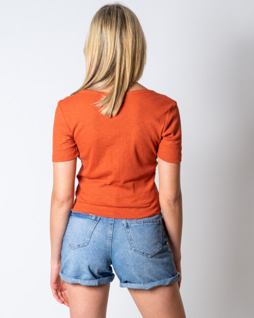 Only T-shirt GIGI LIFE S/S BUTTON TOP JRS 15202989 - 2