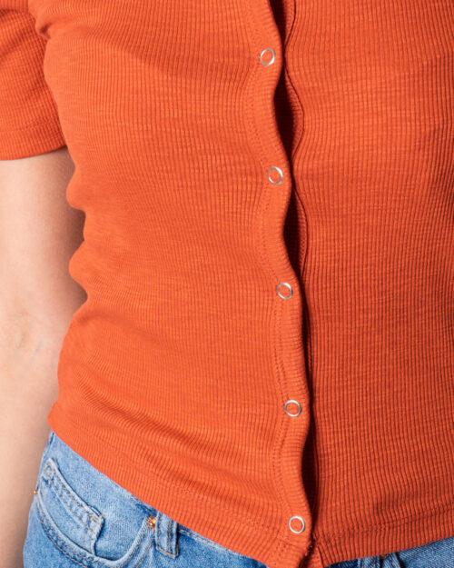 Only T-shirt GIGI LIFE S/S BUTTON TOP JRS 15202989 - 3