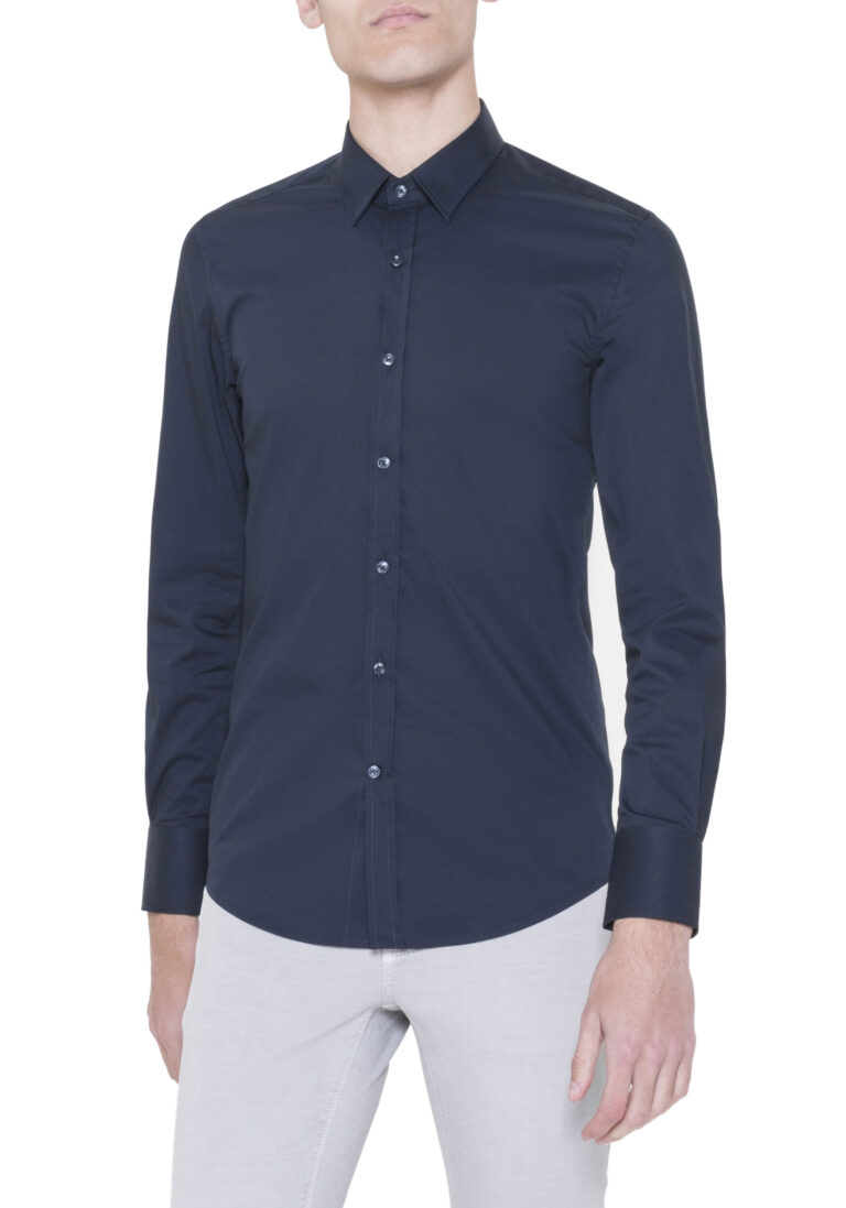 Camicia manica lunga Antony Morato MMSL00375/FA450001 Blue scuro - Foto 1