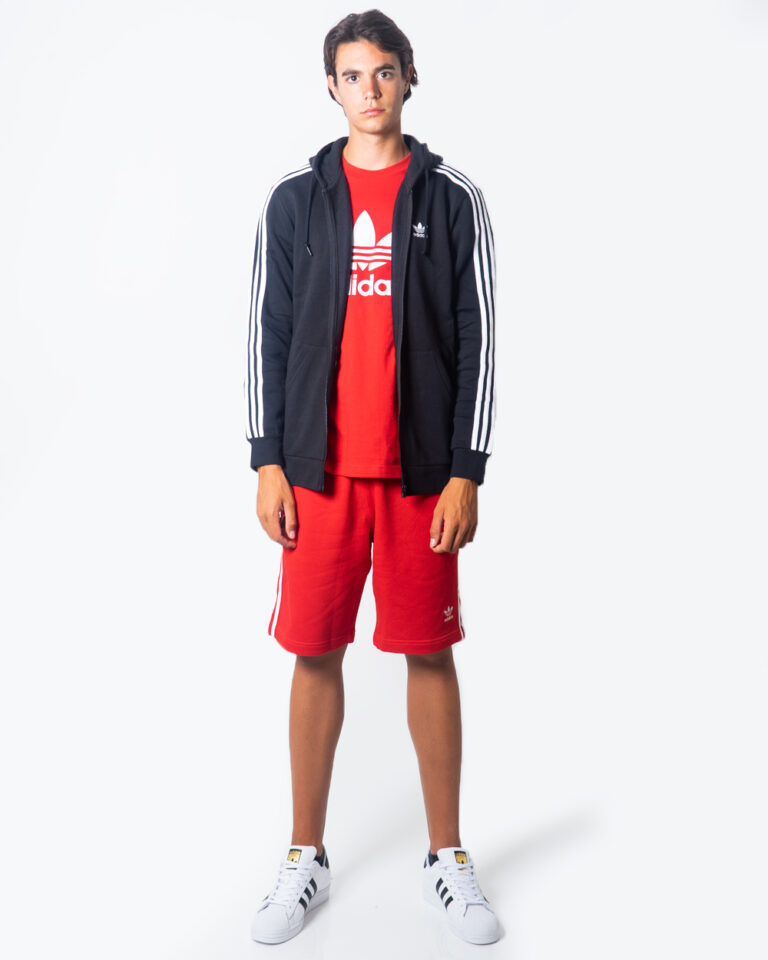 Bermuda Adidas 3-STRIPE Rosso - Foto 4