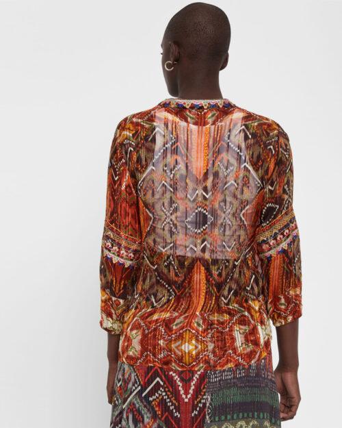 Bluse manica lunga Desigual Blus milan Arancione – 44653