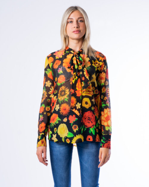 Bluse manica lunga Desigual BLUS FLOWERS Nero – 53003