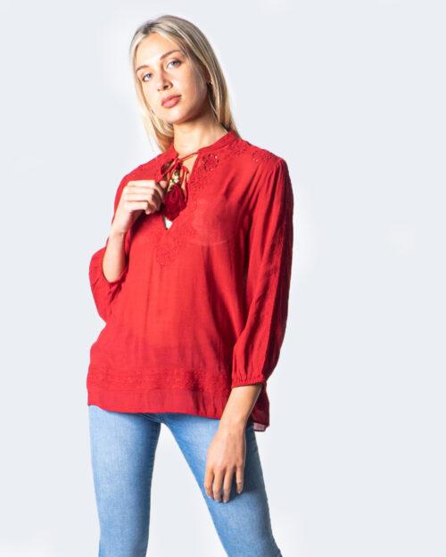Bluse manica lunga Desigual BLUS ANUSKA Rosso - Foto 1