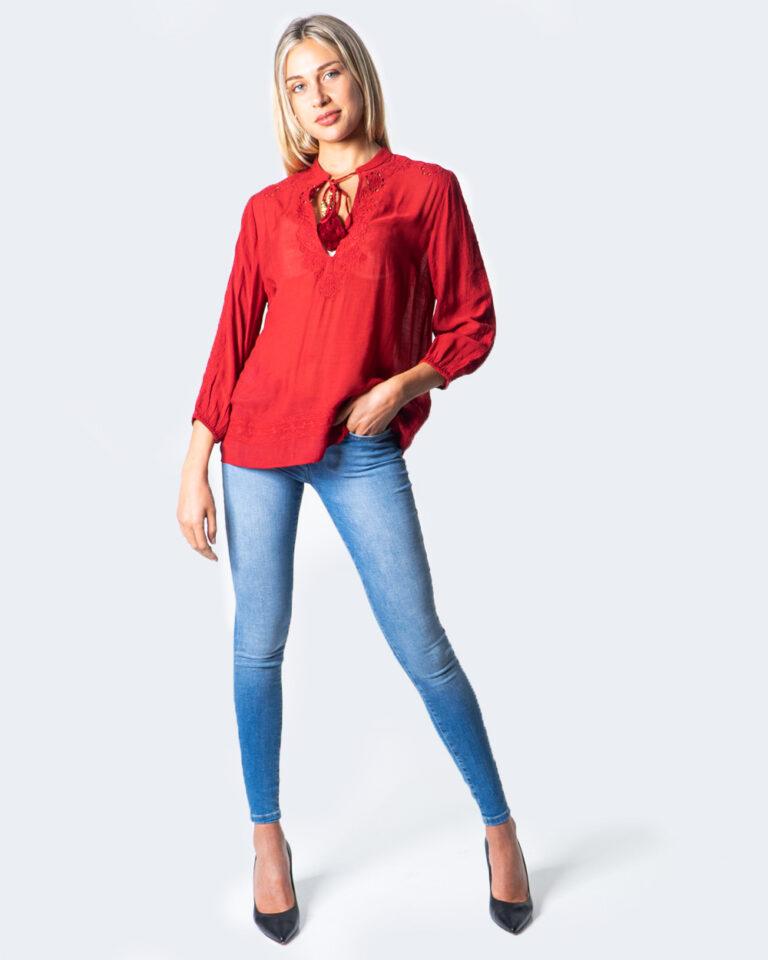 Bluse manica lunga Desigual BLUS ANUSKA Rosso - Foto 2