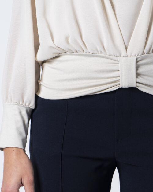Bluse manica lunga Sandro Ferrone Barca con fiocco Panna - Foto 4