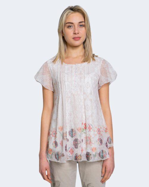 T-shirt Desigual NORTE Bianco - Foto 4