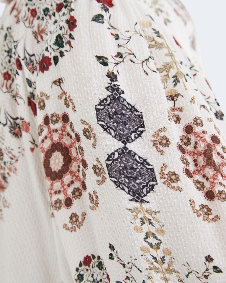 Bluse manica lunga Desigual INDIRA Bianco - Foto 4