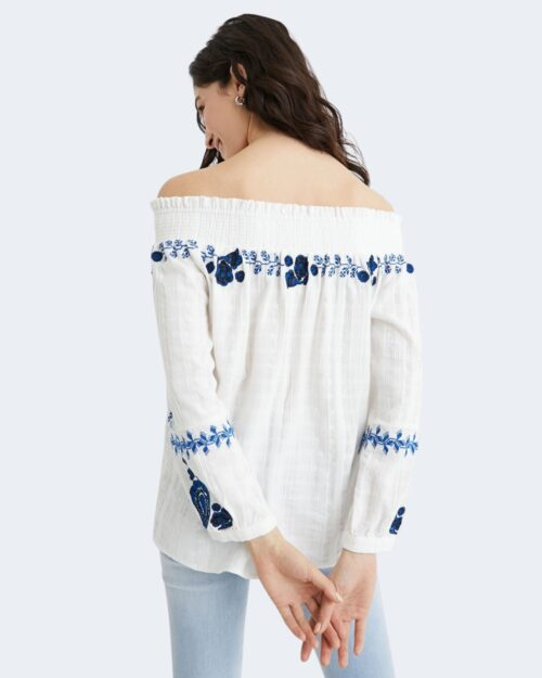Bluse manica lunga Desigual SENA Bianco - Foto 3