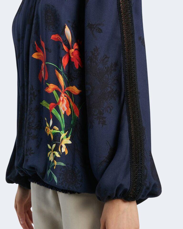 Bluse manica lunga Desigual CARLA Blu - Foto 4