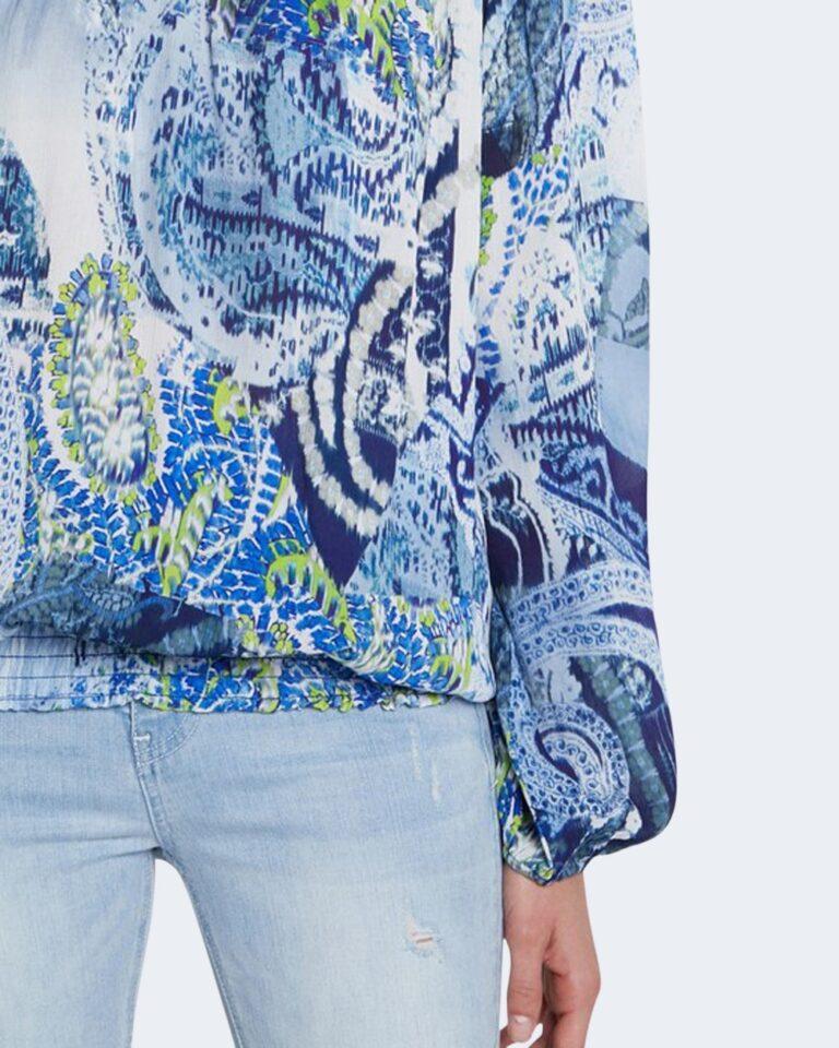 Bluse manica lunga Desigual SHEILA Celeste - Foto 3