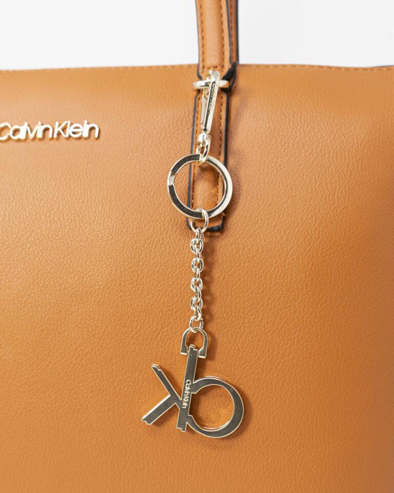 Borsa Calvin Klein SHOPPER Cuoio - Foto 4
