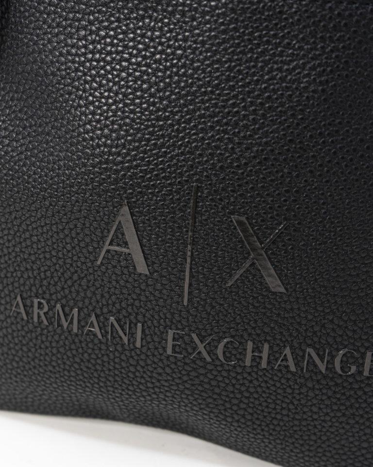 Borsa Armani Exchange LOGO RILIEVO Nero - Foto 4