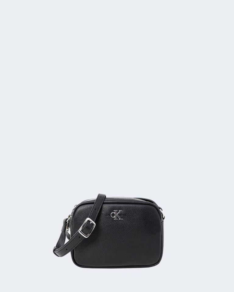 Borsa Calvin Klein DOUBLE ZIP CROSSBODY Nero - Foto 1