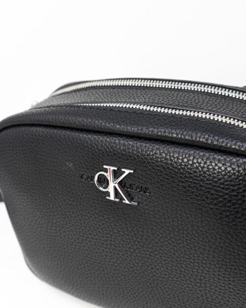 Borsa Calvin Klein DOUBLE ZIP CROSSBODY Nero - Foto 4