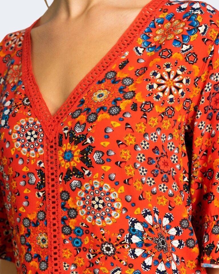 Caftano Desigual JAVA Arancione - Foto 3