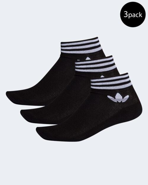 Calzini corti Adidas Trefoil Ankle Sock 3PP Unisex Nero – 49267