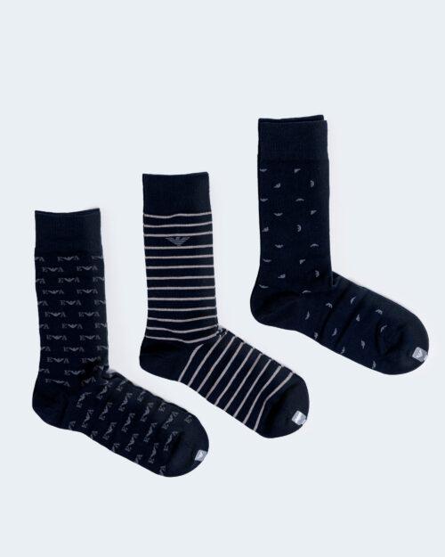 Calzini Lunghi Emporio Armani Underwear CALZA 3 PACK CORTA Blue scuro - Foto 3