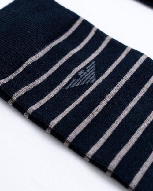 Calzini Lunghi Emporio Armani Underwear CALZA 3 PACK CORTA Blue scuro - Foto 4