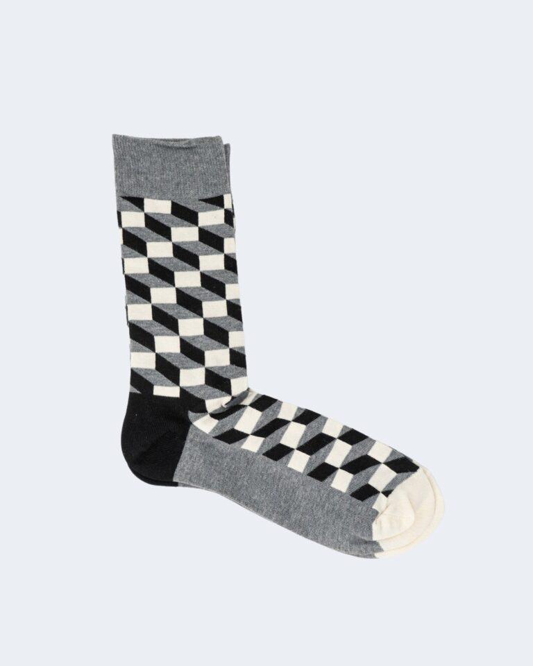 Calzini Happy Socks FILLED OPTIC SOCK Grigio - Foto 1