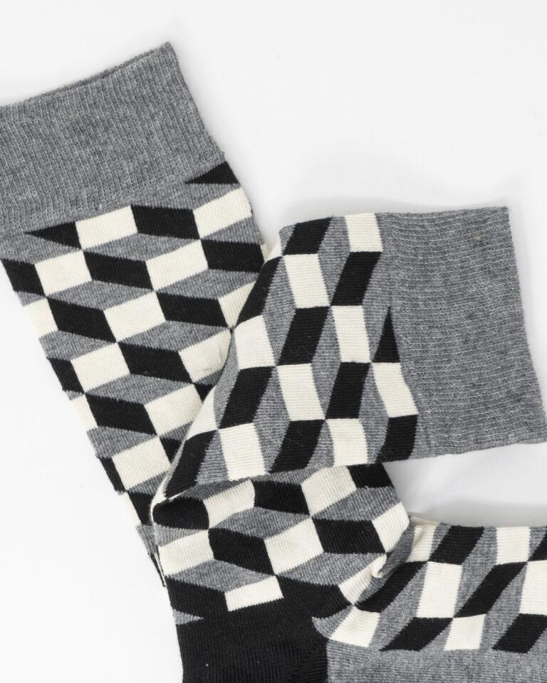 Calzini Happy Socks FILLED OPTIC SOCK Grigio - Foto 2