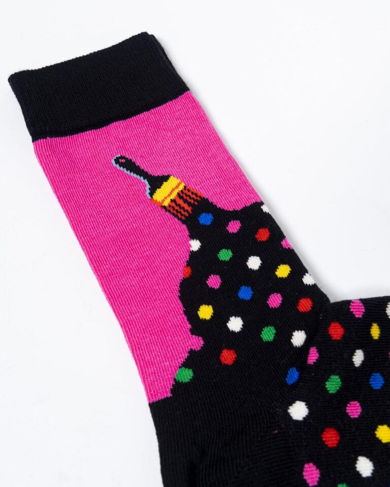 Calzini Happy Socks PAINT SOCK Nero - Foto 2