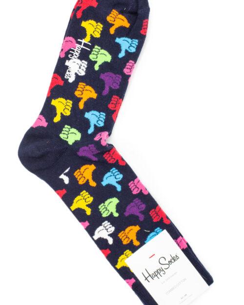 Calzini Lunghi Happy Socks THUMBS UP SOCK Nero – 31314