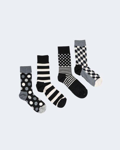 Calzini Happy Socks CLASSIC BLACK WHITE GIFT Nero – 66557