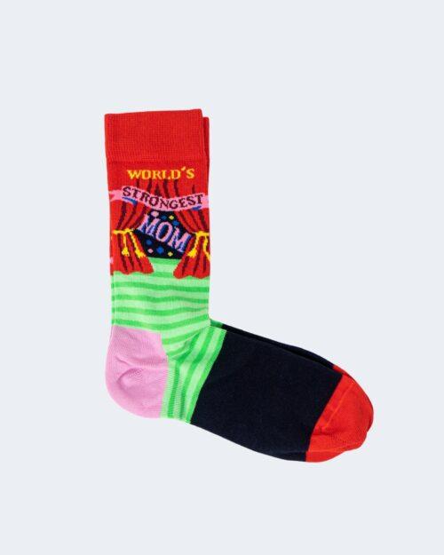 Calzini Happy Socks WORLD'S STRONGEST MOM Rosso – 66478